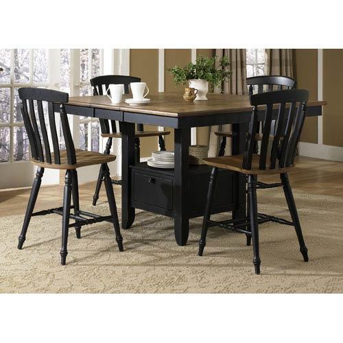 Liberty Furniture Al Fresco II Driftwood and Black Gathering Table