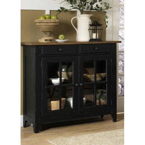Liberty Furniture Al Fresco II Driftwood and Black Server