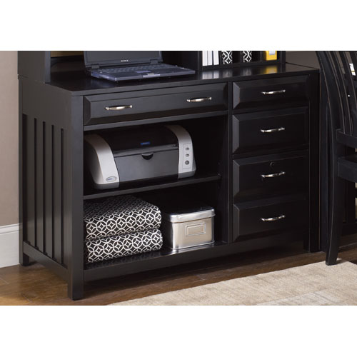 Liberty Furniture Hampton Bay Black Computer Credenza