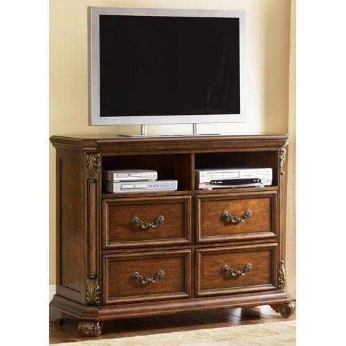 Messina Estates Cognac Four Drawer Media Chest