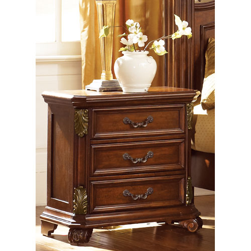 Liberty Furniture Messina Estates Cognac Three Drawer Night Stand