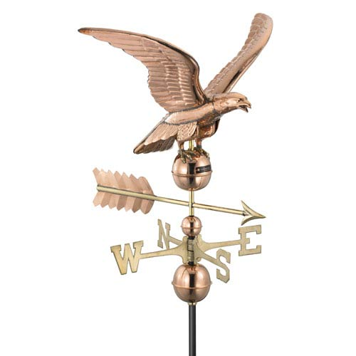 Good Directions Smithsonian Polished Copper Eagle Weathervane