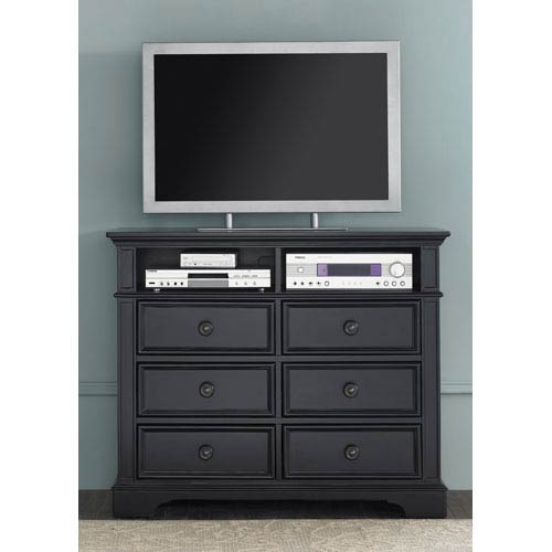 Liberty Furniture Carrington II Black Media Chest