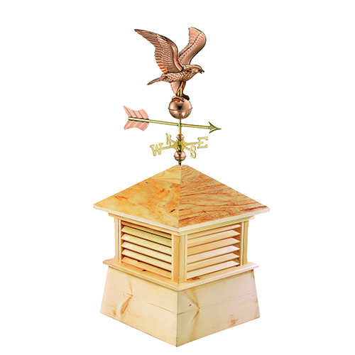 18-Inch Square Kent Wood Cupola with Cottage Eagle