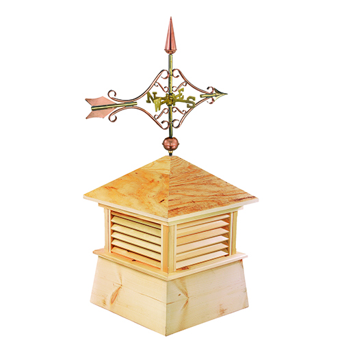 Good Directions 30-Inch Square Kent Wood Cupola with Standard Victorian Arrow