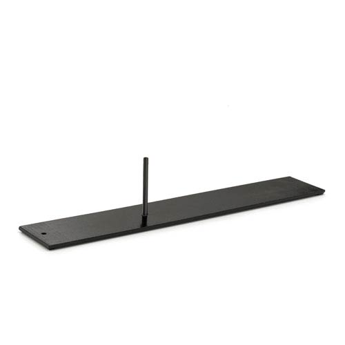 Black Weathervane Americana Mantle Base fits 1/2-Inch rod
