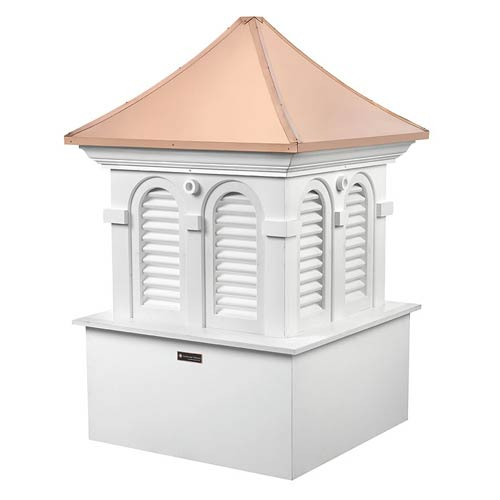 Smithsonian Alexandria Polished Copper and White 37-Inch Cupola