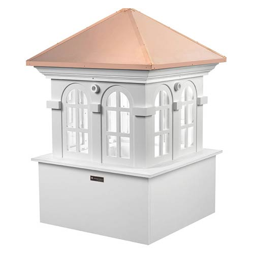 Smithsonian Chesapeake Polished Copper and White 51-Inch Cupola
