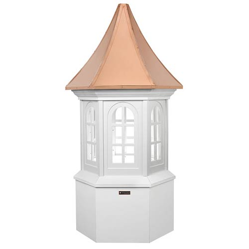 Good Directions Smithsonian Georgetown Polished Copper and White 139-Inch Cupola
