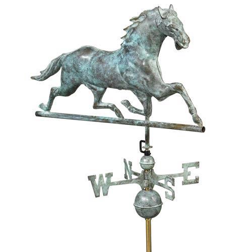 Blue Verde Horse Full Size Weathervane