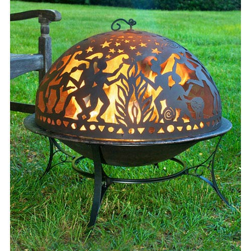 Faux Copper Medium Full Moon Party Fire Pit