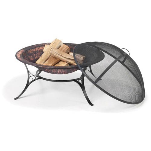 30 Inch Medium Fire Pit w/Spark Screen
