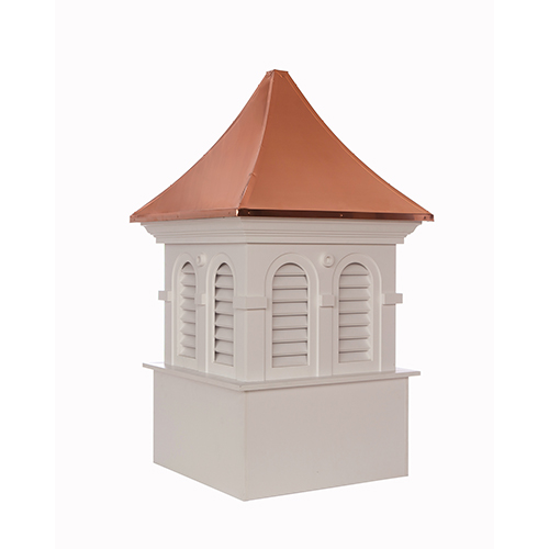 Good Directions Smithsonian Columbia Vinyl Cupola with Copper Roof 30 x 51