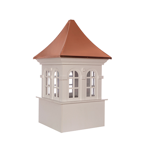 Good Directions Smithsonian Stafford Vinyl Cupola with Copper Roof 48 x 80