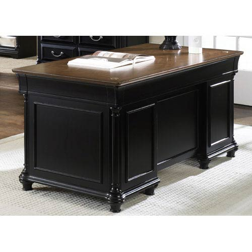 Liberty Furniture St. Ives Chocolate and Cherry Jr Executive Desk