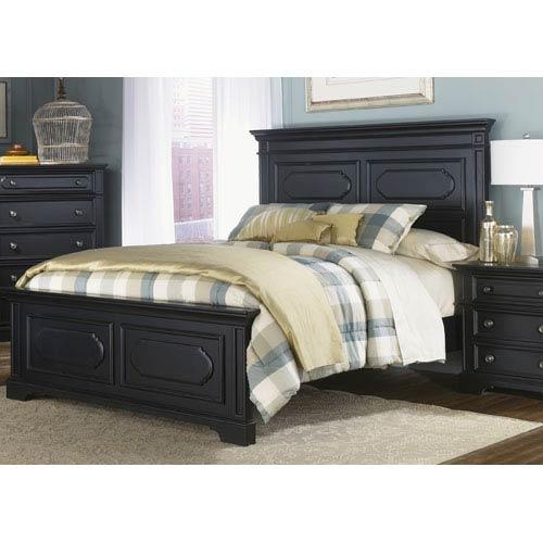 Carrington II Black King Panel Bed