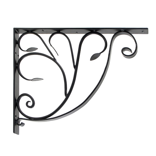 Leafy Leaf Wrought Iron Mail Box Bracket