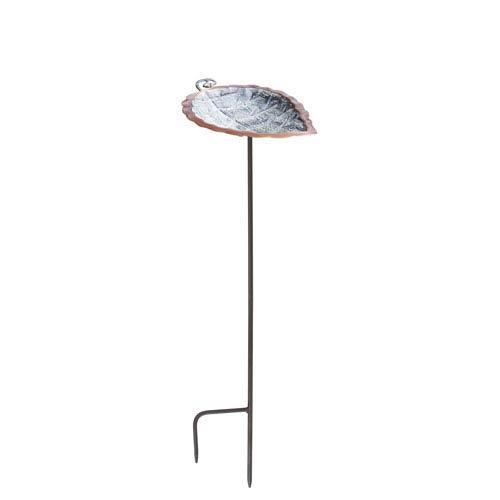 ACHLA Designs Aspen Leaf Birdbath with stand