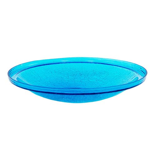 ACHLA Designs 14 Inch Teal Crackle Glass Bowl Only