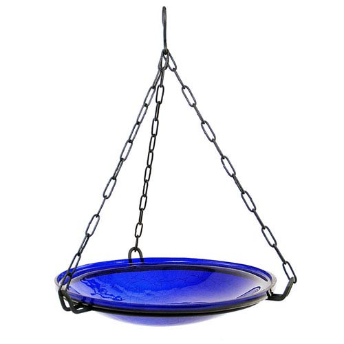 Hanging Cobalt Blue Crackle Bowl Only