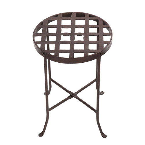 Wrought Iron Flowers Plant Stand II