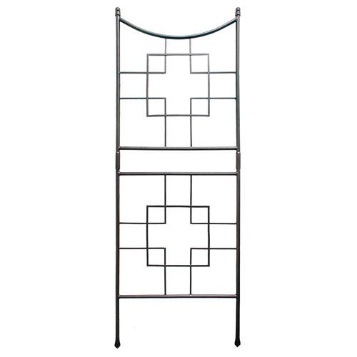 Square-on-Squares Wrought Iron Trellis