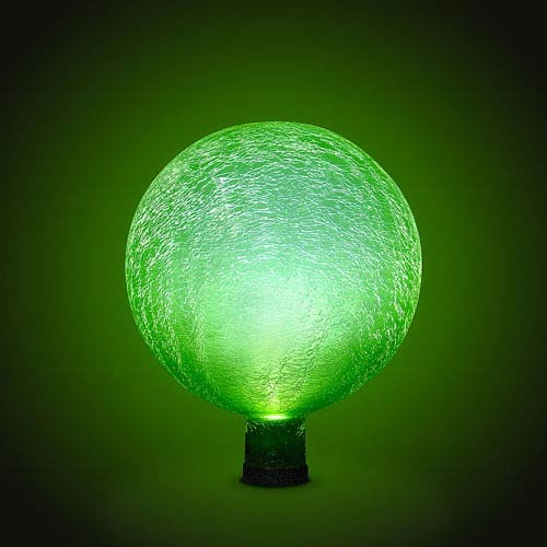 Gazing Ball 10 Inch Fern Green Frosted