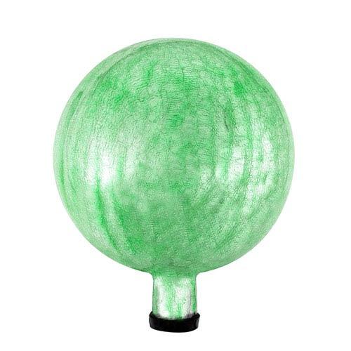 10 Inch Gazing Globe, Light Green, Crackle