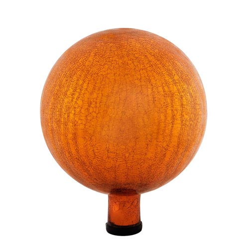 ACHLA Designs 10 Inch Gazing Globe, Mandarin, Crackle