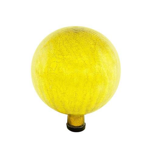 Gazing Globe 10 Inch Lemon Drop Crackle