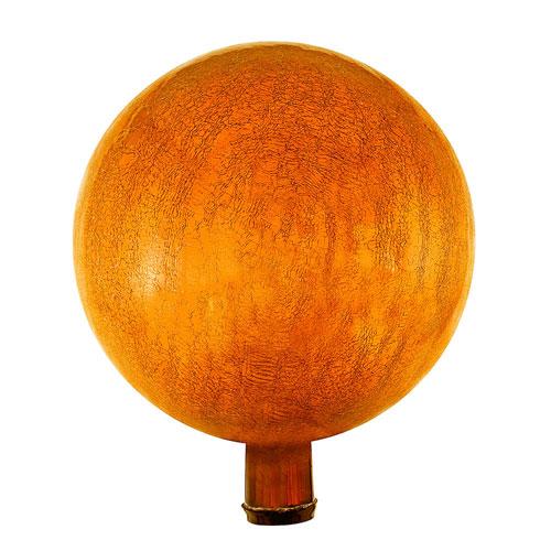 Mandarin Crackle 12-Inch Gazing Globe