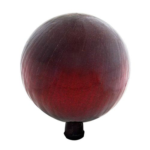 ACHLA Designs Gazing Ball 12 Inch Red Crackle