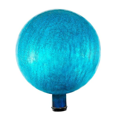ACHLA Designs 12 Inch Gazing Globe, Teal, Crackle