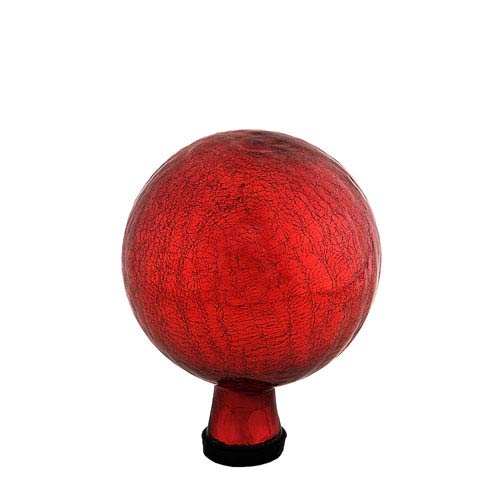 ACHLA Designs Gazing Ball 6 Inch Red Crackle