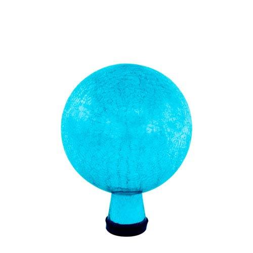 6 Inch Gazing Globe, Teal, Crackle - Globe Only