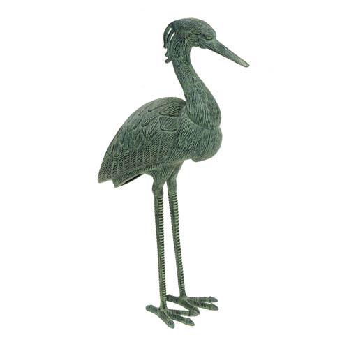Verdi Stately Blue Heron Statue