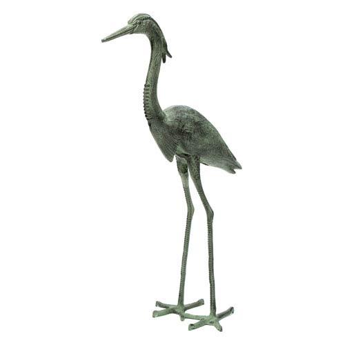 Verdi Great Blue Heron Statue