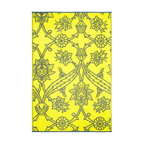 ACHLA Designs Fuchsia Flowers 4 x 6 Floor Mat Slate
