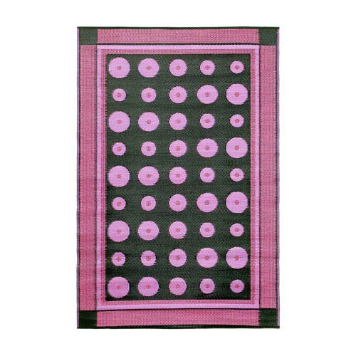 Dots 4 x 6 Floor Mat Berry