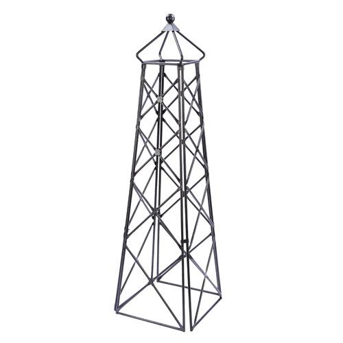 Wrought Iron Lattice Obelisk