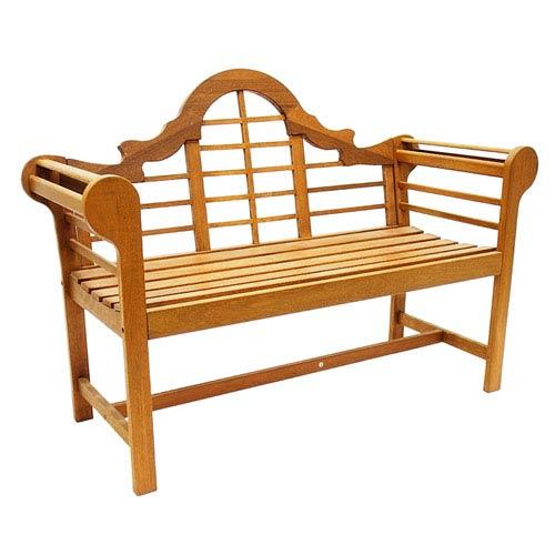ACHLA Designs Lutyen Oil Finish Hardwood Bench