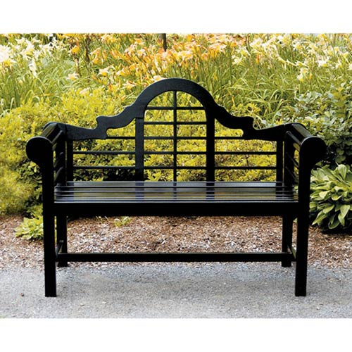 outdoor benches for sale Achla Designs Lutyens Black Bench Ofb 11 | Bellacor outdoor benches for sale