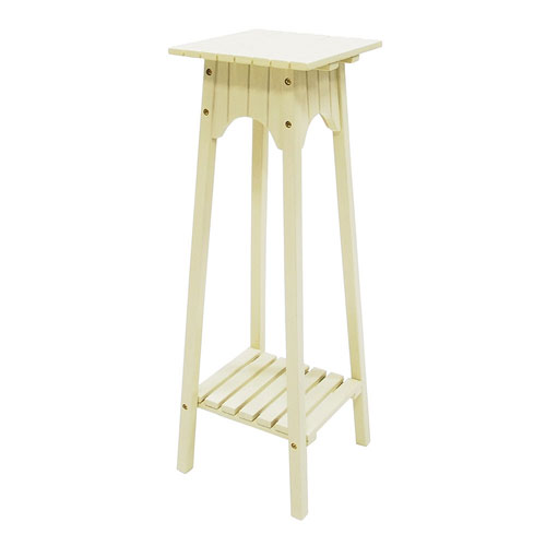 English Antique Ivory Plant Stand