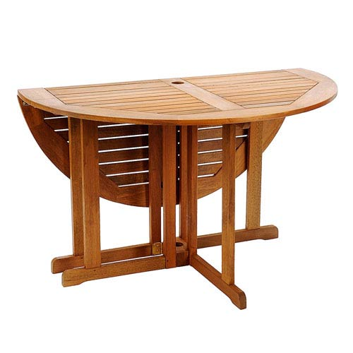 Achla Designs Natural Oil 48 Inch Round Folding Table Oft 01 Bellacor