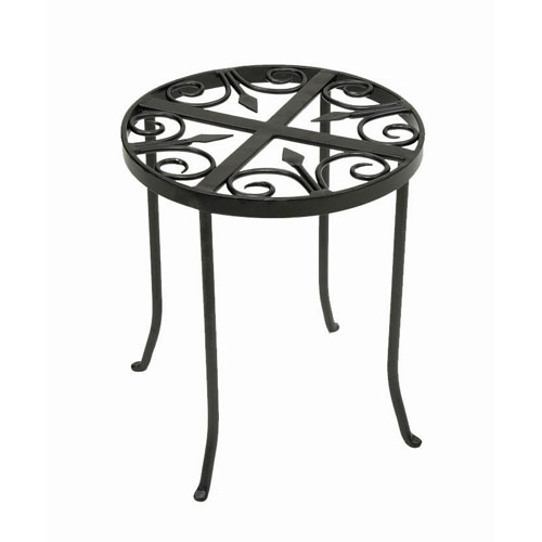 Achla Designs Round Trivet Wrought Iron Plant Stand