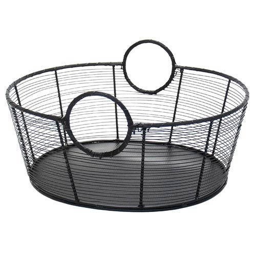 Large Wrought Iron Steel Harvest Basket