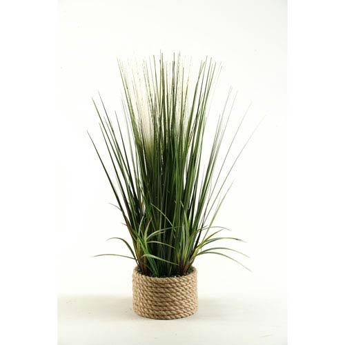 D & W Silks 30-Inch Mixed Grasses in Ceramic Planter