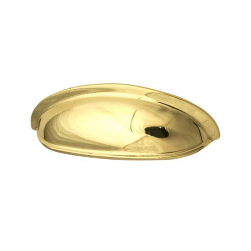 Polished Brass 3-Inch Shallow Cup Pull