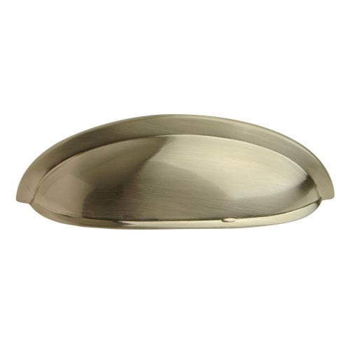 Satin Nickel 3 Inch Shallow Cup Pull