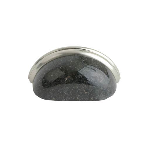 Black 3-Inch Cup Pull Galaxy Granite